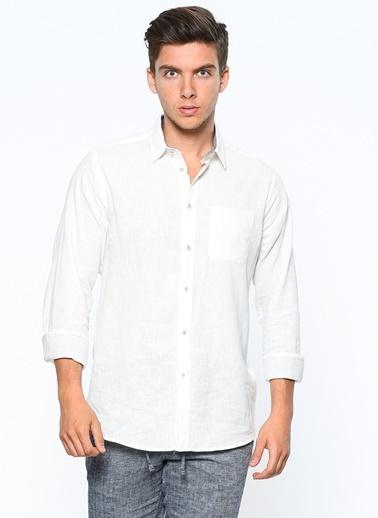 Koton Keten Gömlek Beyaz